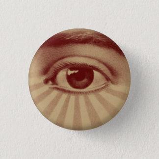 Alles sehende Auge Runder Button 3,2 Cm