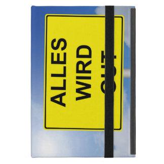 Alles wird Gut Schild mit Himmelhintergrund iPad Mini Etui