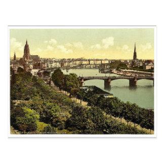 Allgemeine Ansicht, der Fluss und Lager, Frankfort Postkarte