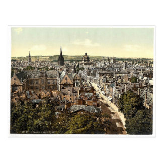 Allgemeine Ansicht und Hautpstraße, Oxford, Postkarte