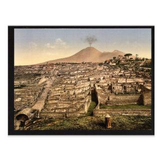 Allgemeine Ansicht und Vesuv, Pompeji, Italien Postkarte