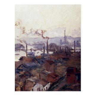 Allgemeine Ansicht von Rouen von St.Catherines Postkarte