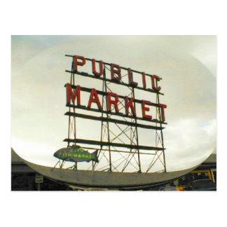 Allgemeiner Markt in Seattle, WA Postkarte