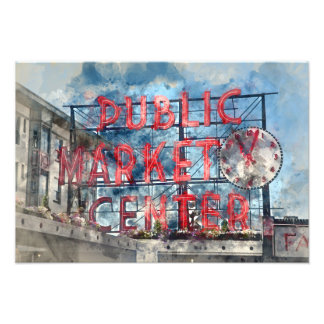 Allgemeiner Markt-Mitte in Seattle Washington Fotodruck