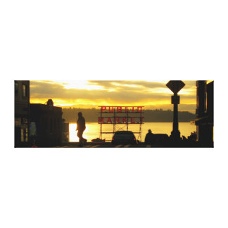 Allgemeiner Markt-Sonnenuntergang-Fotografie Leinwanddruck