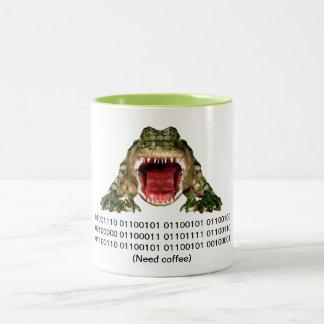 "Alligator""Bedarfs-Kaffee"" Tasse"