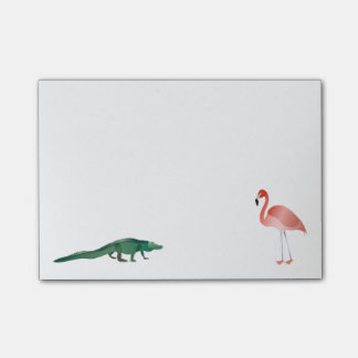 Alligator und Flamingo Post-it Klebezettel