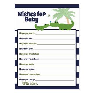 Alligatorbaby-Mama-Wünsche für Baby-Ratekarten Postkarte