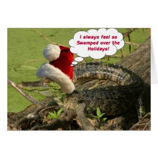 Alligatorweihnachtskarte Karte