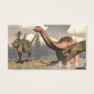 Allosaurus, der großen Brontosaurusdinosaurier Visitenkarte