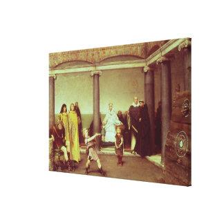 Alma-Tadema | Bildung der Kinder von Clothilde Leinwanddruck
