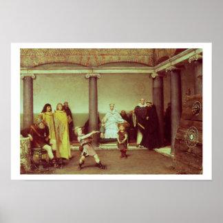 Alma-Tadema | Bildung der Kinder von Clothilde Poster