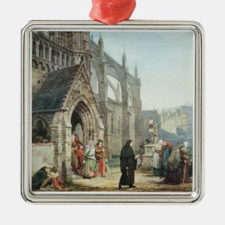 Alma-Tadema | Faust und Gänseblümchen, 1857 Quadratisches Silberfarbenes Ornament