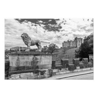 Alnwick-Schloss, Northumberland Fotodruck