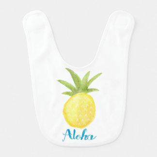 Aloha Ananas-Aquarell-Schellfisch Babylätzchen