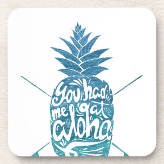 Aloha Ananas-Surfbretter Getränkeuntersetzer