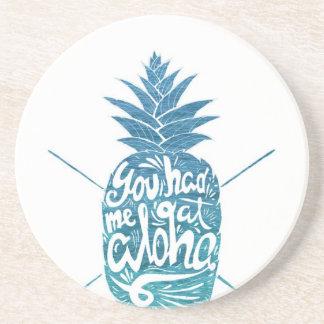 Aloha Ananas-Surfbretter Untersetzer