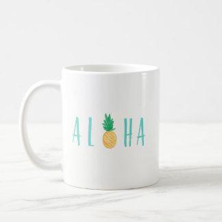 Aloha Ananas-tropische Kaffee-Tasse Kaffeetasse