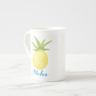 Aloha Ananaswatercolor-Knochen-China-Tasse Prozellantasse