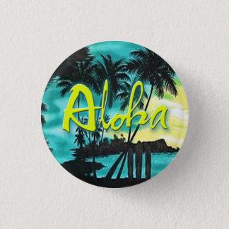 Aloha Aqua-Sonnenuntergang-Button Runder Button 2,5 Cm