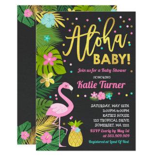 Aloha Babyparty-Einladungs-tropische Babyparty Karte