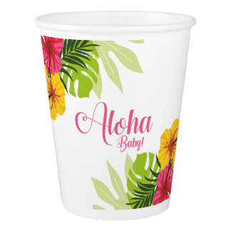 Aloha Babyparty, Luau Schalen Pappbecher