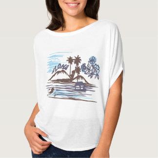 Aloha dessus vintage de cercle de Bella Flowy des T-shirt