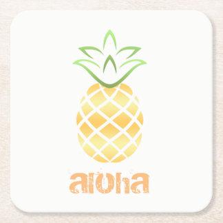 aloha Hawaii-Ananasgetränk-Untersetzer luau Rechteckiger Pappuntersetzer