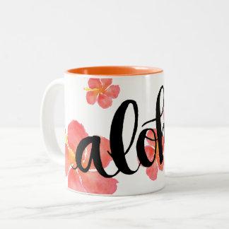 Aloha Hawaii-Hibiskus-Tasse Zweifarbige Tasse