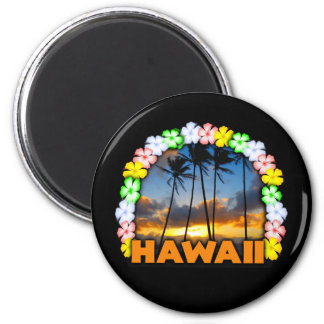 Aloha Hawaii Runder Magnet 5,1 Cm