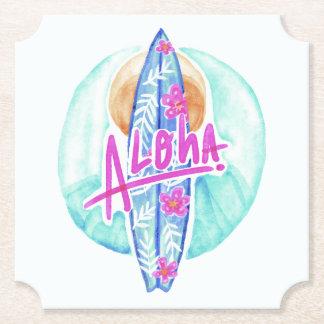 Aloha hawaiische Surferpapier-Untersetzer Untersetzer