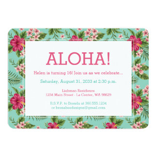 Aloha hawaiisches Blumen Karte