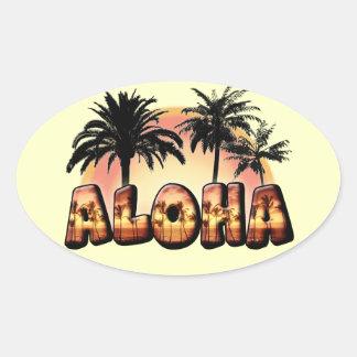 Aloha Ovaler Aufkleber