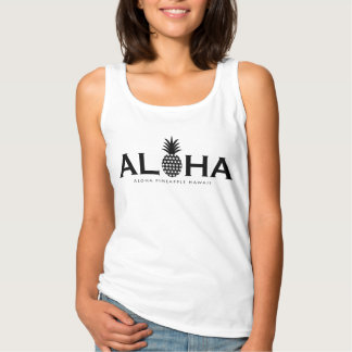 ALOHA pineapple(Black) Tank Top