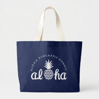 aloha pineapple hawaii bag jumbo stoffbeutel