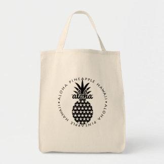 aloha pineapple hawaii shoppingbag tragetasche