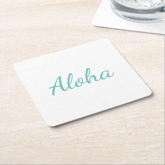 Aloha Rechteckiger Pappuntersetzer