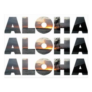 Aloha Sonnenuntergang Postkarte