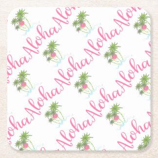 Aloha-Strände hawaiische Art-Ferien cool Rechteckiger Pappuntersetzer