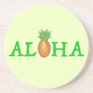 ALOHA tropische hawaiische Insel-Ananas-Frucht Getränkeuntersetzer