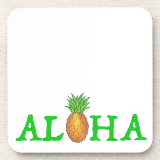 ALOHA tropische Insel-hawaiische Getränkeuntersetzer