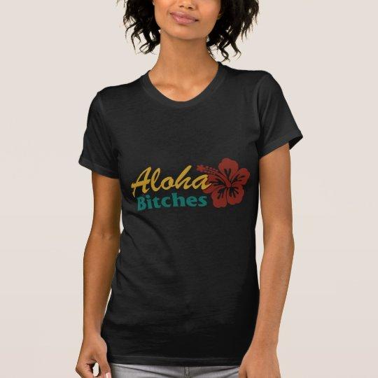 Aloha Vintage Art der Weibchen T-Shirt