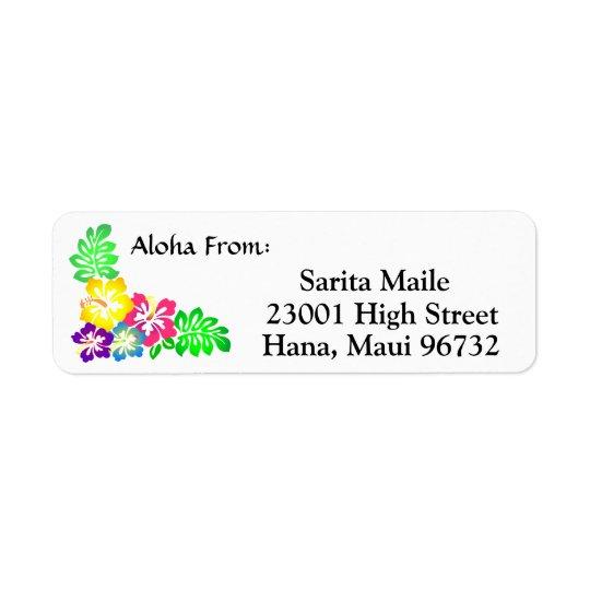 Aloha vom tropischen Hibiskus