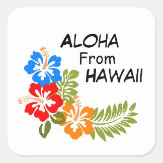 Aloha von Hawaii Quadratischer Aufkleber