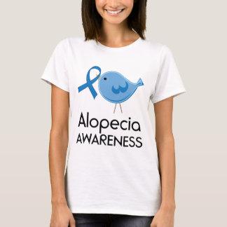 Alopezie-Bewusstseins-Bandblauvogel T-Shirt