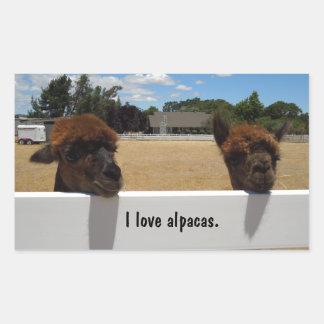 Alpaga dans Templeton, la Californie Sticker Rectangulaire