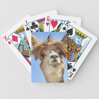 Alpaka mit dem verrückten Haar Bicycle Spielkarten