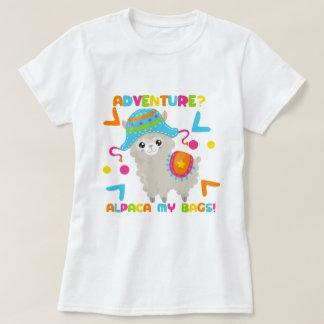 Alpaka-Spaß - Abenteuer-Alpaka meine Taschen T-Shirt