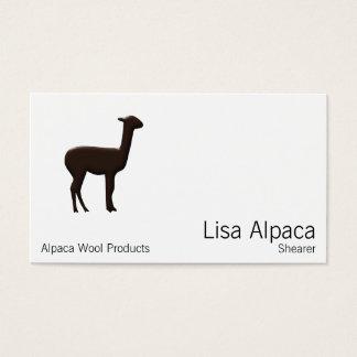 Alpaka Visitenkarte