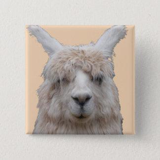 Alpaka von kundengerechtem Knopf Perus Quadratischer Button 5,1 Cm